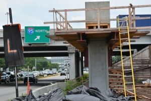 I-95, Butler Blvd bridge beam placement