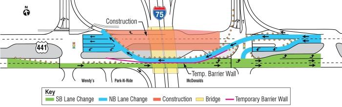 I-75 US 441 lane Shift MapFINAL