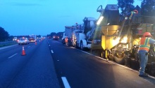 Night time I-75 N S Projects Map Widening Resurfacing FDOT Construction Interstate Nighttime