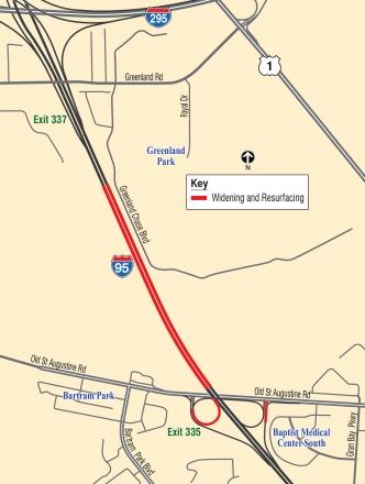 I-95 O S Augustine IC map