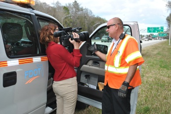 Road Ranger Andy Henry is interviewed by Channel 4