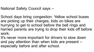 National Safety Council says –